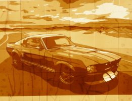 Brown tape Mustang GT500 by supereiki