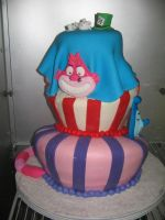 alice in wonderland cake by panda-odono