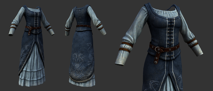 Imperial Upperclass Clothing (Female) by SteelFeathers