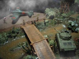 Mitsubishi A6M vs. Sherman M4A3, Japan 1944 - 4 by Frostfeuer