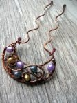 Crescent Moon Copper Hair Fork by Lirimaer86