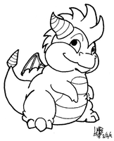 Chubby Spyro by TakShadoWing