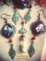 Samhain necklace and earrings2 by Verope
