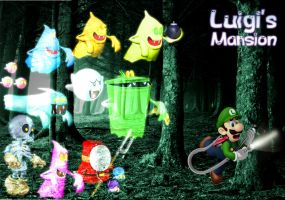 Luigi Chased by Ghosts by GEO-GIMP