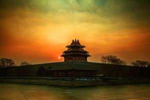 Sunrise in early morning winter Palace turret 2 by sunny2011bj