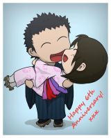 Our 6th Anniversary Chibi by lucero