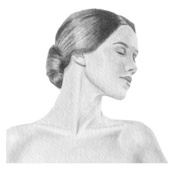 Neck Drawing by twe3lve