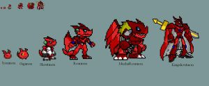 Shoutmon's Digivolutions by yurestu