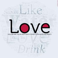 LOVE WORD CLOUD by StarwaltDesign