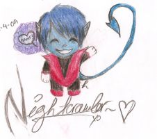 .Marvel Chibi: Nightcrawler. by HannahPhantom6