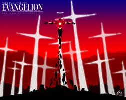 Evangelion Unit 01 crazy red 3 by Epsthian-Artist
