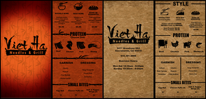 Menu Designs by DETWERKS