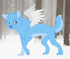 ice wolf by wolfbloodMANIA
