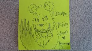 Teddy on sticky note :3 by Toothshy11
