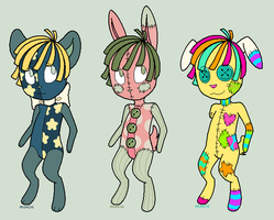 Plushie adopts - OPEN by RaveMunch