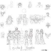 Locked Hearts Final Pencils by cthu