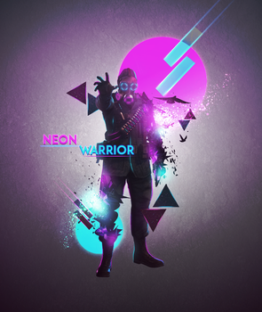 Neon Warrior - Abstract Manipulation by OneDayGFX
