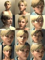 Sherry Birkin - Locker room screenshots by Thanhthao90