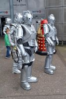 Cybermen and Daleks at the NSC 2015 by masimage