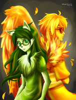 Jadesprite and Davesprite by skytabula