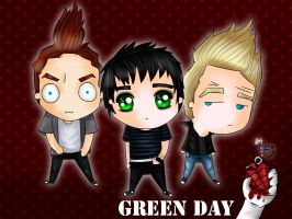 chibi Green Day by shootmoon