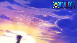 One Piece wallpaper-Sunset by Prank0