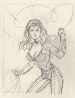 New Wonder Woman pencils by MichaelDooney