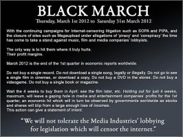 THE BLACK MARCH PROTEST by CelestialRainfall