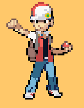 Classic Trainer Red FireRed Style by MohammadAtaya