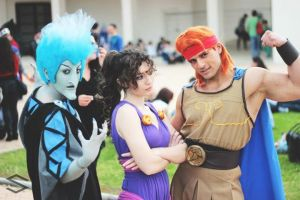 Hades, Meg and Hercules by PinkLemon91