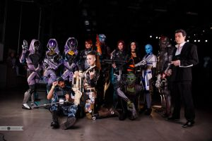 Mass Effect team at Starcon 2015 by e115sa