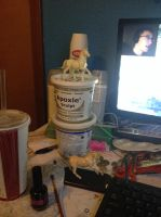 My - very messy - workspace by Ayedeas