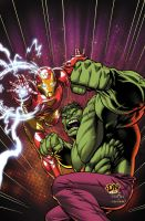 Iron Man and Hulk by DNA-1