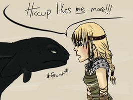 HTTYD - Fight for Hiccup by matalic-butterfly