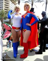 Power Girl and Super Girl by bear213