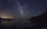 Milky way at Gerstle Cove by nickteezy408