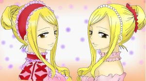 Layla n Lucy Heartfilia: Colored by NaLulu1
