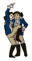Laurens and Hamilton by Ceruligo