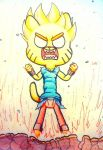 Gumball goes Super Saiyan! by WaniRamirez