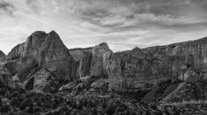 Pano Of Red Rock BW by mjohanson