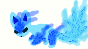 Glowing cat FROSTING ICE by TheDarknessDash