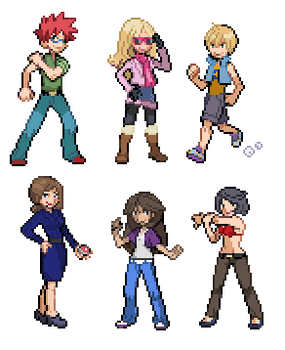 Trainer Sprites Everywhere by KillingQueens