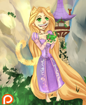 Tangled Neko Rapunzel likes you by HalanLore