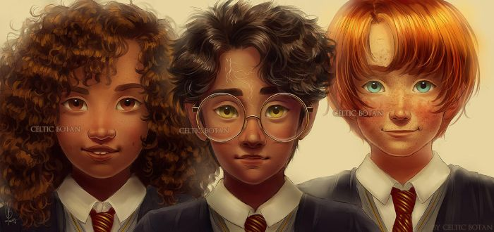 The Golden Trio by CelticBotan
