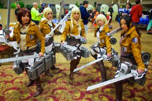 Attack on Titan group by GrumpyCosplay