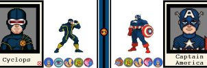 AvsX - Cyclops vs. Captain America by GEEKINELL