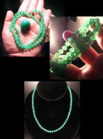 MY MAGICAL CHRYSOPRASE BEADS by jessa1155