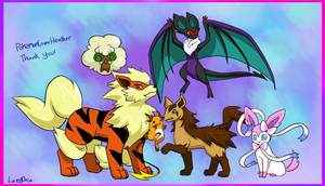 Pokemon team commission for Heather by LazyOrca