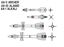 Russia air-to-air missile by bagera3005
