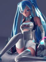 MMD Racing Miku 2014 by MMDMikuMikuLen
